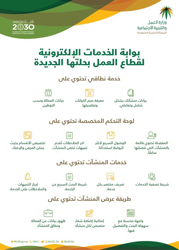 موقع الخدمات الإلكترونية لقطاع العمل