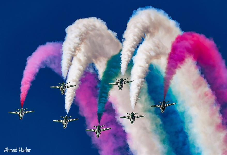"""لقطات رائعة لطائرات """"الصقور السعودية"""" أثناء مشاركتها في احتفالات باكستان بذكرى الاستقلال"""