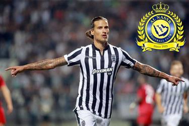 """النصر يسعى لتدعيم فريقه بهدّاف الدوري اليوناني """"ألكسندر بريوفيتش"""".. وصعوبات تواجه صفقة الانتقال"""