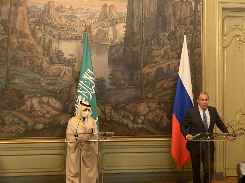 """مباحثات سعودية روسية.. فرحان: ناقشنا تطوير العلاقات في عدة مجالات.. لافروف: نعمل لإيصال لقاح """"سبوتنيك"""" إلى المملكة"""