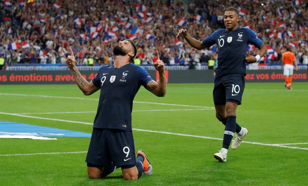 جيرو يقود فرنسا للفوز على هولندا في دوري الأمم الأوروبي
