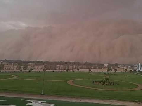 """""""مدني الجوف"""" يوضح حقيقة مقطع فيديو يُظهر عاصفة رملية تضرب سكاكا"""