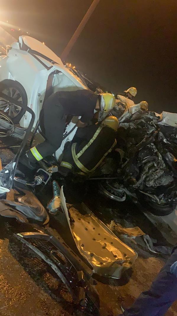وفاتان وإصابتان في حـادِث مروري مروع على طريق الساحل بجدة