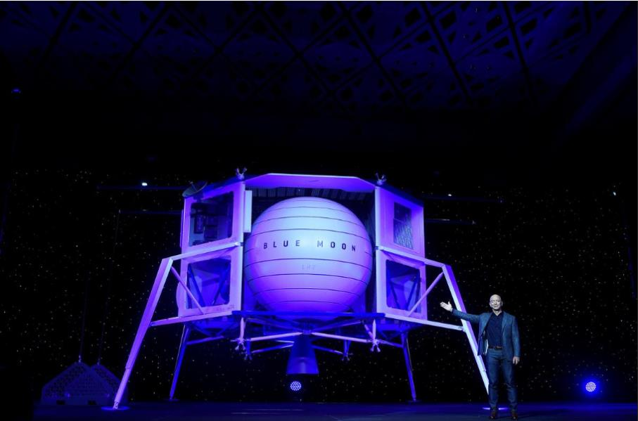 نتيجة بحث الصور عن مؤسس أمازون يكشف عن مركبة فضائية قادرة على نقل حمولات إلى سطح القمر