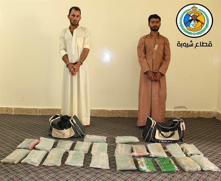 حرس الحدود بمنطقتي جازان ونجران يحبط تهريب أكثر من نصف طن من الحشيش المخدر