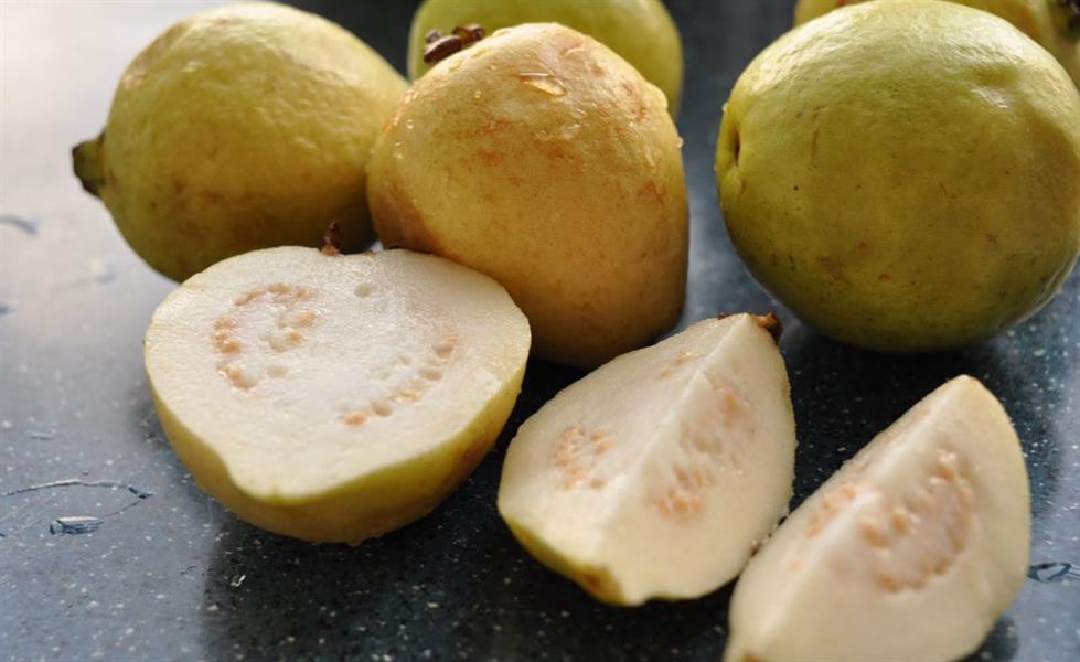 الجوافة: تسمى بالفاكهة السوبر لاحتوائها على 377 مليجرام من الفيتامين.