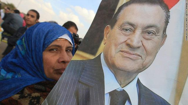 صورة لحسني مبارك