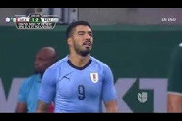 بالفيديو.. أوروجواي تفوز على المكسيك بالأربعة