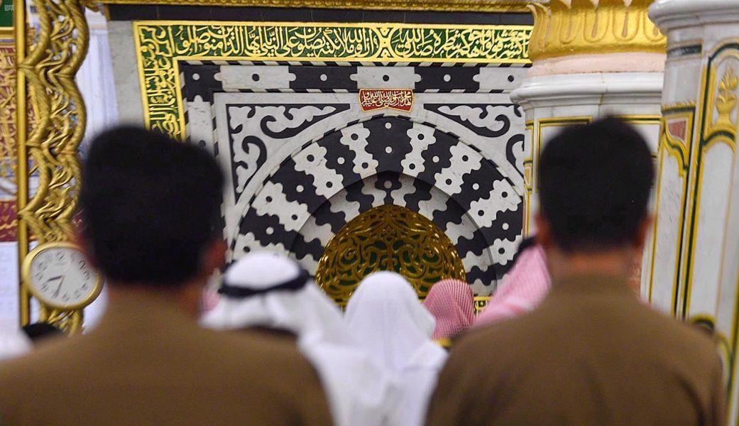 أول صلاة تراويح بالمسجد النبوي