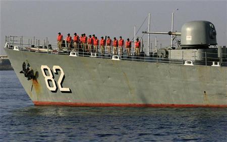 مدمرة إيرانية بميناء بورتسوان يوم 31 اكتوبر تشرين الأول 2012