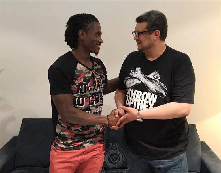 رئيس النصر يوقع رسمياً عقداً مع الليبيري ويليام جيبور لمدة 3 سنوات
