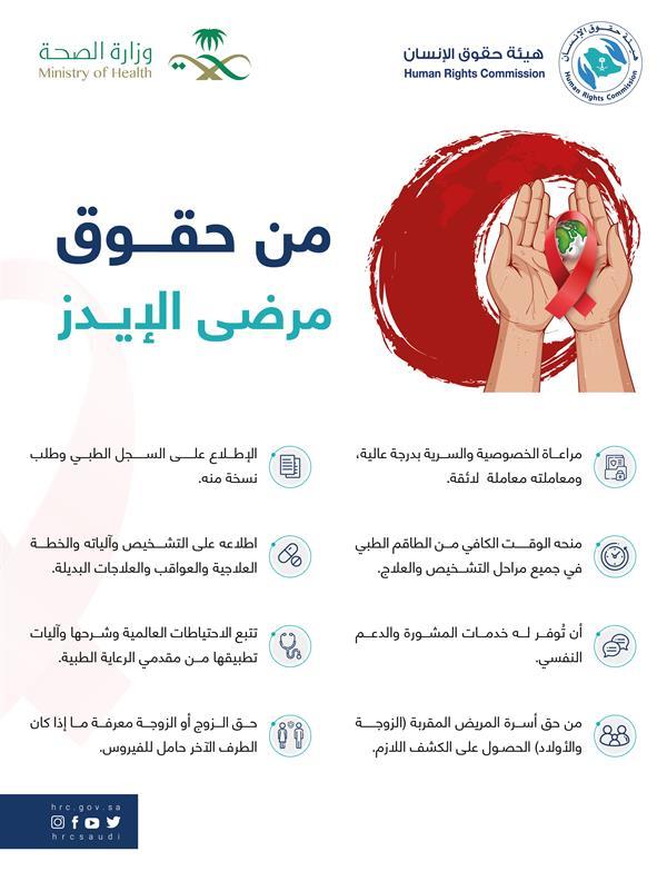 8 حقوق لمرضى الإيدز توضحها