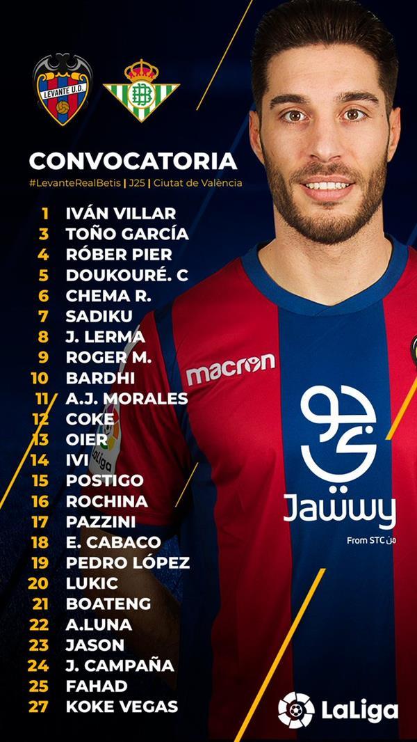 للمرة الأولى.. فهد المولد ضمن قائمة ليفانتي في الدوري الإسباني