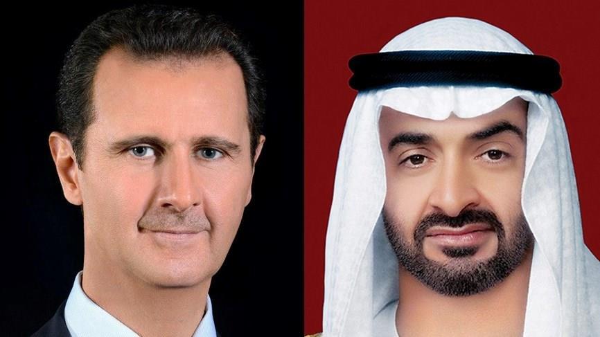 محمد بن زايد وبشار الأسد