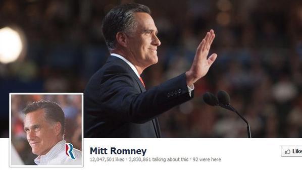 صفحة المرشح الخاسر بالانتخابات الأميركية ميت رومني على الفيسبوك