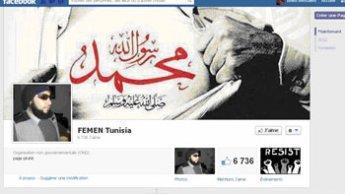 العنقور يقرصن صفحة فيمن-تونس على فيس بوك