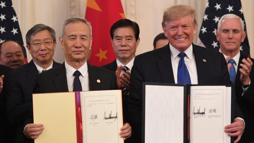 الرئيس الأميركي دونالد ترامب ورئيس الوزراء الصيني، ليو هي،