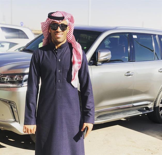 اللاعب حمدالله بالزي السعودي