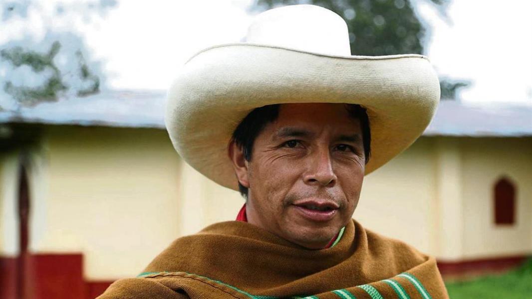 الرئيس البيروفي المنتخب بيدرو كاستيلو