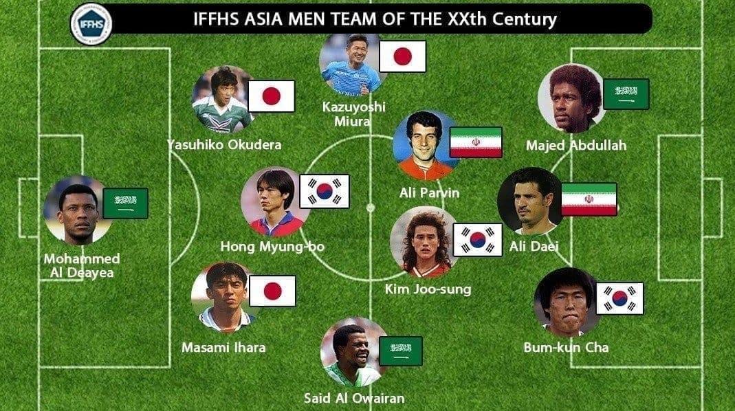 تشكيلة القرن الـ20 في آسيا