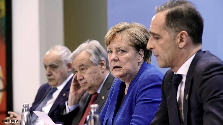 أكدت ميركل أن طرفي الصراع في ليبيا اتفقا على حظر السلاح.