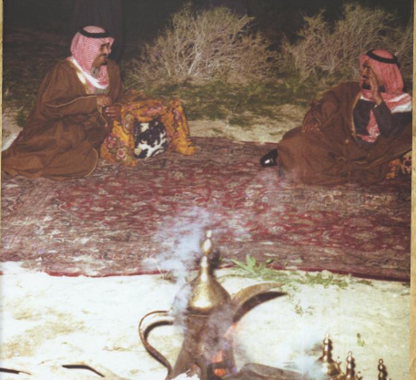 صورة نادرة للملك خالد والملك فهد