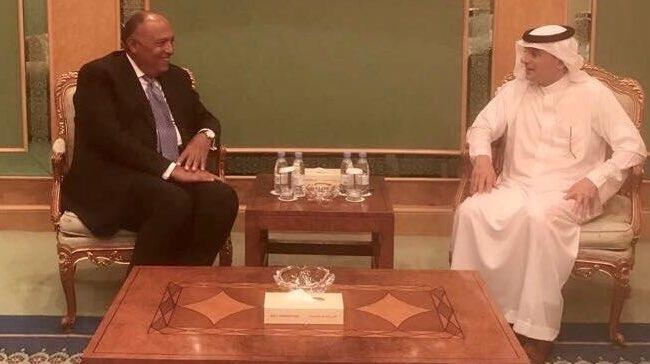 الجبير يلتقي وزير الخارجية المصري