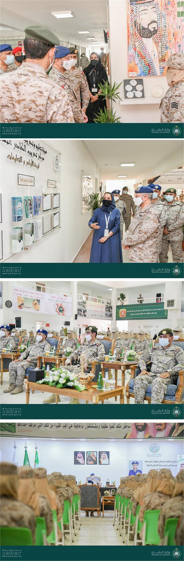 رئيس هيئة الأركان العامة يرعى تخريج الدفعة الأولى من مركز تدريب الكادر النسائي للقوات المسلحة.