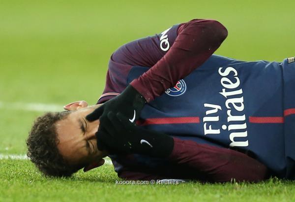 بالصور: نيمار يتعرض لإصابة خطيرة في مواجهة مارسيليا