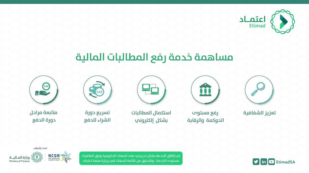 """""""منصة اعتماد"""" تعلن إتاحة خدمة رفع المطالبات إلكترونياً بشكل كامل أمام القطاع الخاص"""