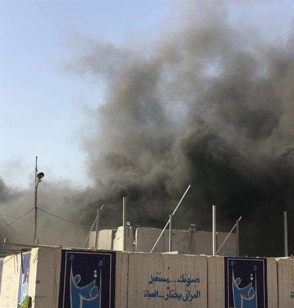 مسؤولون: حريق في مخزن لصناديق الاقتراع في بغداد