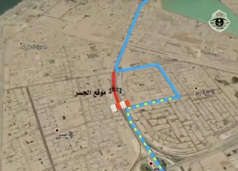 """""""مرور الشرقية"""": إغلاق طريق الملك خالد بالخبر في الاتجاهين يومي 13 و14 يونيو"""