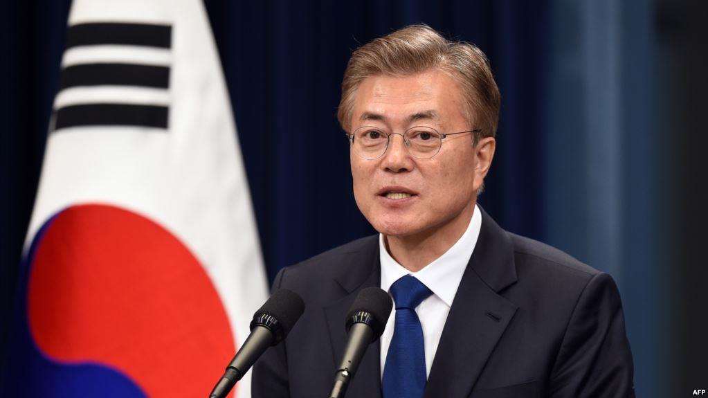 الرئيس الكوري الجنوبي مون جيه