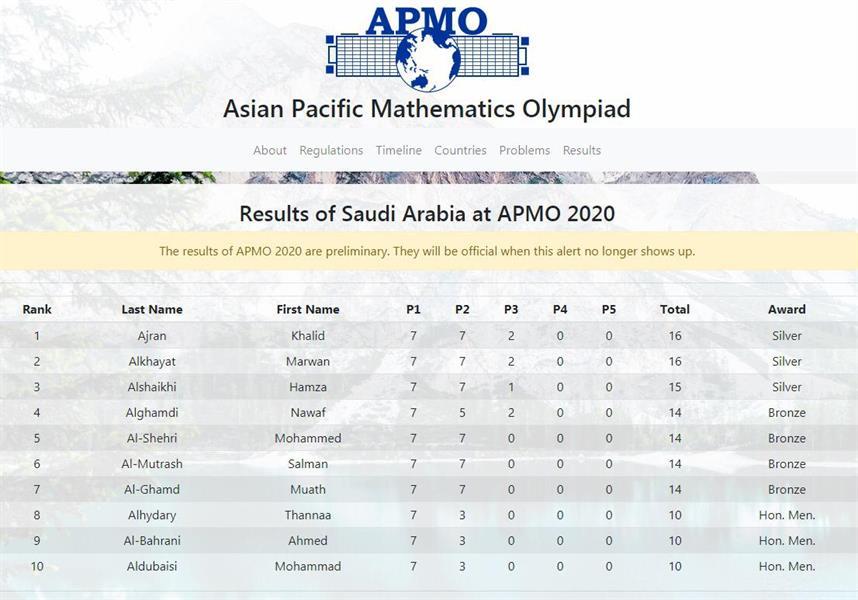 أولمبياد آسيا والباسيفيك للرياضيات