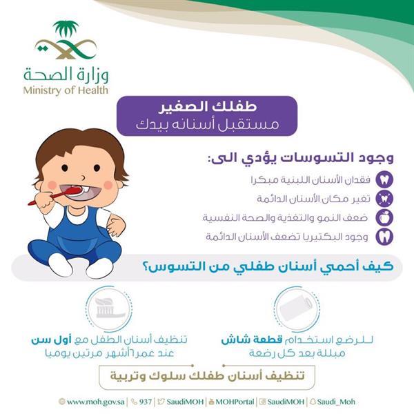 """""""الصحة"""" توضح كيف تحمي أسنان طفلك من التسوس؟"""