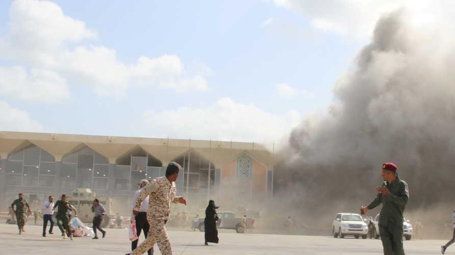 فريق أممي يحمل الحوثيين مسؤولية هجوم مطار عدن