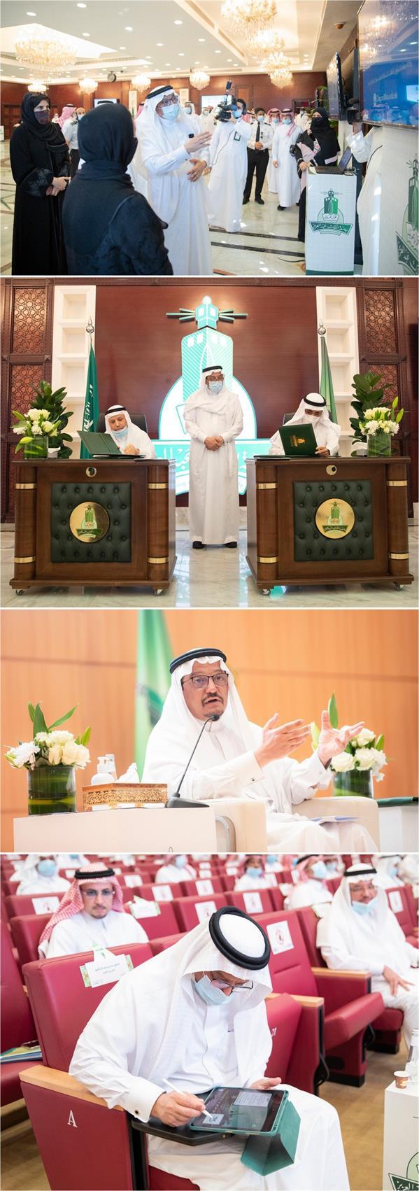 وزير التعليم يلتقى منسوبي جامعة الملك عبدالعزيز ويدشن عدداً من المبادرات والمشروعات