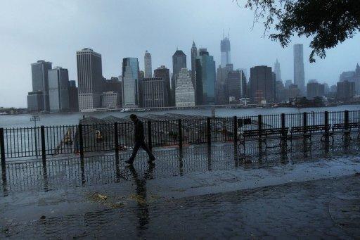 صورة لمدينة نيويورك -خلال اعصار ساندي