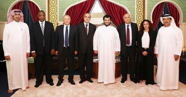 تركي آل الشيخ يلتقي بأعضاء المكتب التنفيذي بالاتحاد العربي