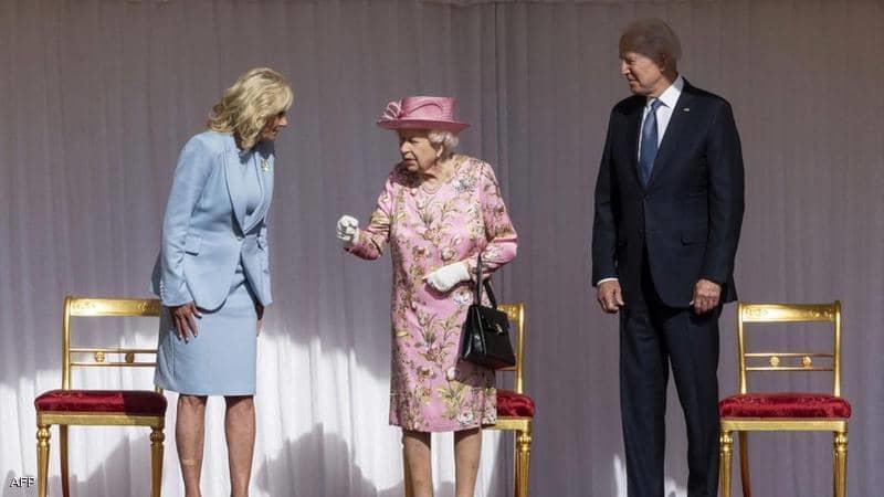 بايدن والملكة إليزابيث