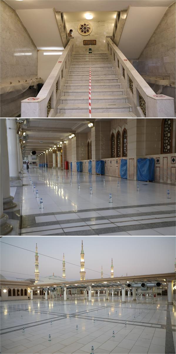 فتح سطح المسجد النبوي لصلاة المغرب والعشاء والفجر اعتباراً من اليوم