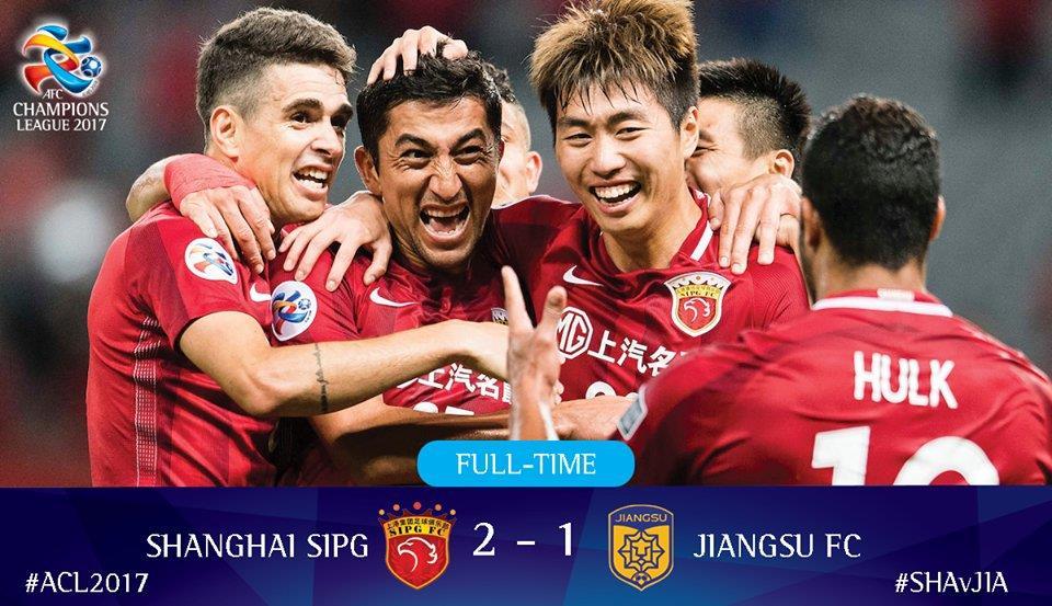 انتصار مثير لشنغهاي على سونينج في دور الستة عشر بدوري أبطال آسيا