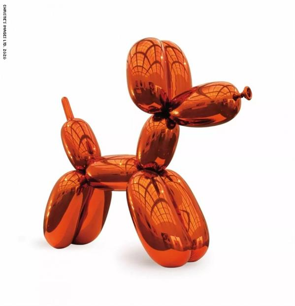 """منحوتة """"Balloon Dog""""، للفنان جيف كونز بين عامي 1994و2000"""