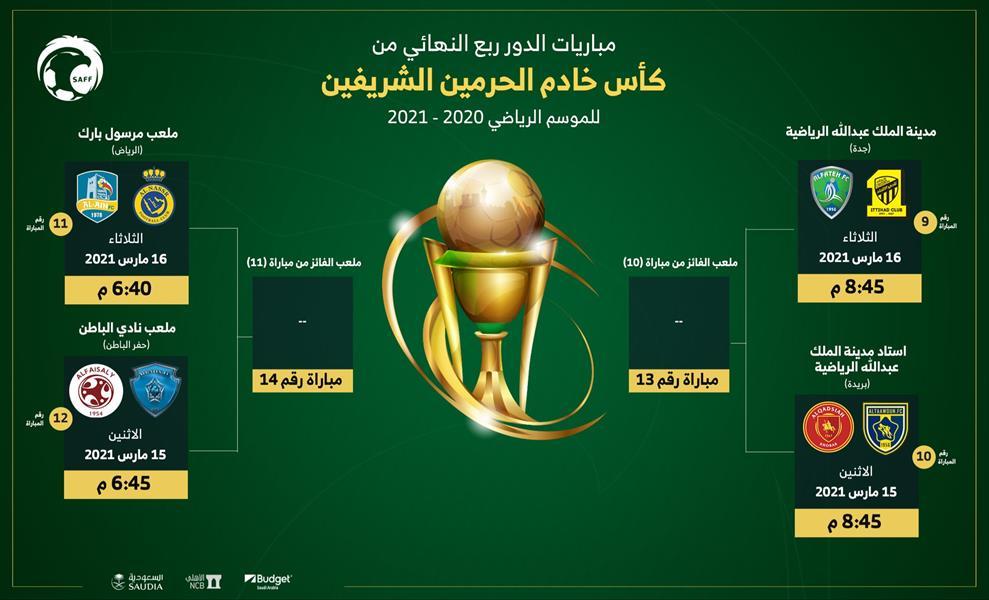 أخبار 24 الكشف عن جدول مباريات ربع نهائي كأس خادم الحرمين الشريفين