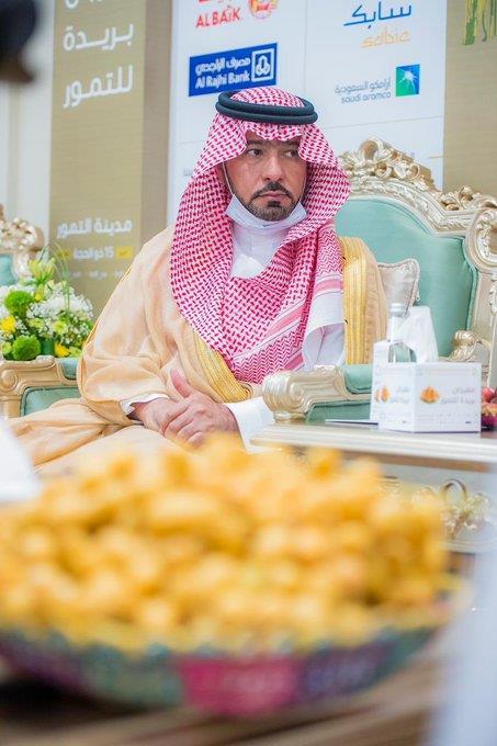 أمير القصيم يزور مهرجان بريدة للتمور بحضور وزير الشؤون البلدية