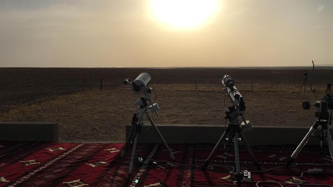 """شاهد.. استعدادات """"مرصد المجمعة"""" لرصد هلال رمضان"""