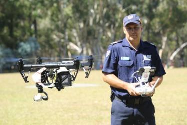 australian firefighters drones