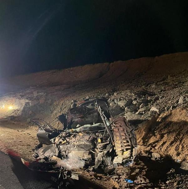 مصرع شخص وإصابة آخر بحـادث تصادم مروع بين مركبة وشاحنة بالباحة