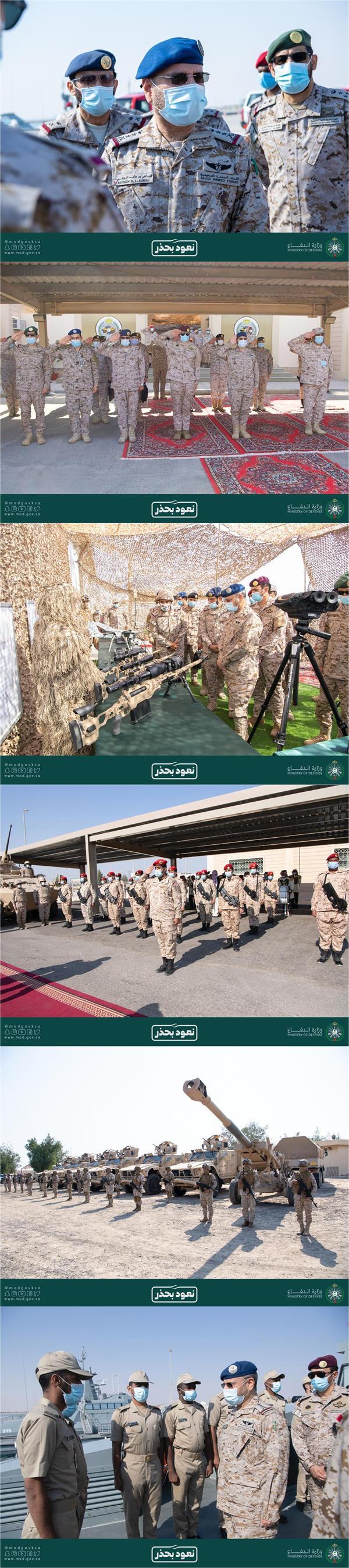 """""""رئيس هيئة الأركان"""" يزور قيادة المنطقة الشرقية للوقوف على جاهزية الموقف العسكري"""