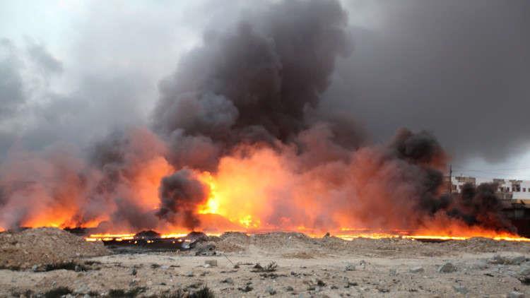 العراق.. إطفاء آخر الآبار المشتعلة في حقل عجيل النفطي